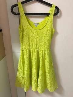 Cotton On Lime Green Skirt