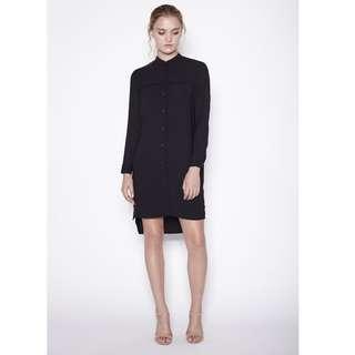 Klarra Black Shirt Dress with Side Slits (size S)