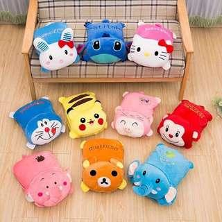 ❤️Character Pillow Blankets