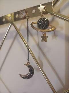 只有一對! 韓款氣質耳環(星空款) $25包平郵