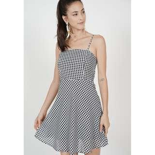 MDS Checkered Dress in Black Gingham