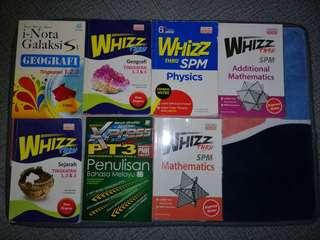 (WTS) SPM and PT3 Whizz Books Form 1 to Form 5