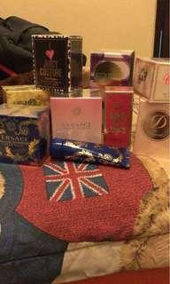 Perfume Versace, ST Duont, Juicy Couture, Bvlgari, Burrbery, Hermes, Carolina Herrera, Justin Bieber dll