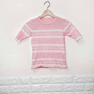 🔥買一送一🔥全新,粉色短版圓領短袖