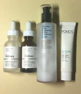 Skincare yard sale : THE ORDINARY, COSRX, PONDS