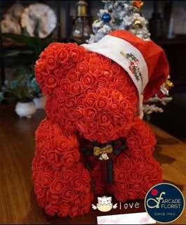 "40cm Immortal ""Soap"" Rose X'mas Teddy 