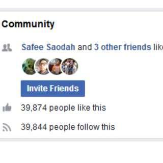 Facebook Fanpage Untuk Peniaga Online 39000 likes