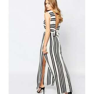 Black and White Striped Maxi Dress with Tie Back (bought from ASOS, RRP $130)