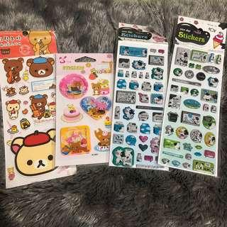[TAKE ALL] Rilakkuma & Cow Stickers