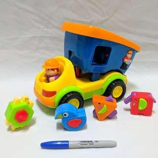 Construction truck shape sorter