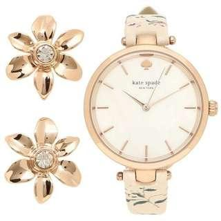 Kate Spade Women's Holland Watch and Earring Set -ROSE GOLD