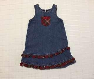 Baby demim dress 12mos euc