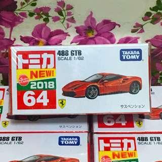 Tomica No.64 Ferrari 488 GTB