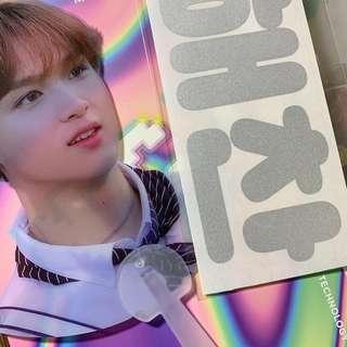 nct haechan fansite transparent fan