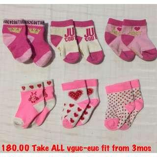 Baby socks juicy couture
