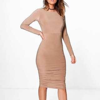 NEW Camel Bodycon Dress