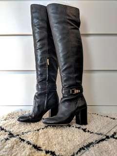 "Sam Edelman Knee-high Leather Boots (6.5 US) w/ 3.5"" Heel"