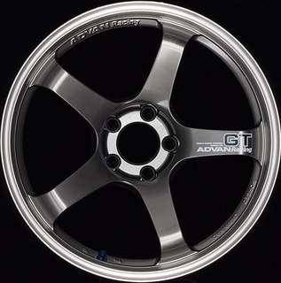 Advan GT Rims Machining & Racing Metal Black by Yokohama