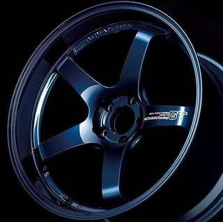 Advan GT Rims Racing Titanium Blue by Yokohama