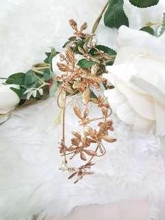 New Dolce & Gabbana Style Rococo ornate dragonfly pearl tiara crown bridal wedding evening prom formal gala