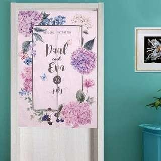Pre Order Personalized Japanese Noren door curtain. Diy customized personalized