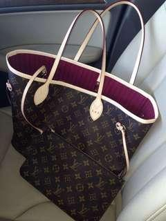 Louis Vuitton bag and wallet