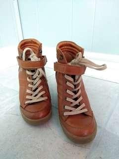 Short Tan Boots