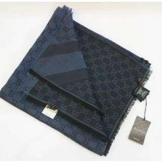 👉NEW - GUCCI Shawl NAVY BLUE #tV