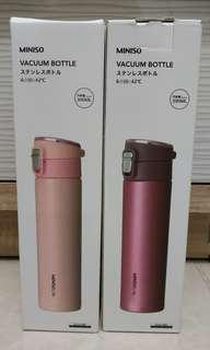 Botol Minum Kedap Thermos Miniso Vacuum Bottle 390ml