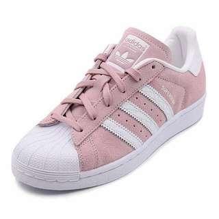 Adidas Pink Suede Superstar
