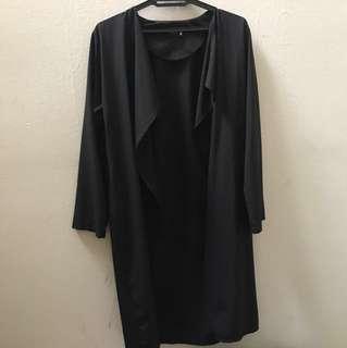 Wrap Cardigan Blouse Black