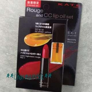 KATE ROUGH AND CC LIP OIL SET
