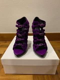 Balenciaga Caged Heels in purple, size 37.5