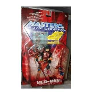 絕版 全新 2002年 Masters Of The Universe MOTU HE-MAN Mer-Man action figure 1款