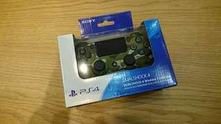 PS4 手把 迷彩綠