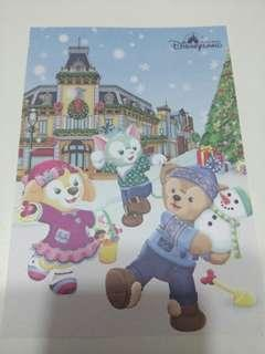 (包平郵) 香港迪士尼樂園明信片(1張)