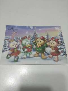 (包平郵)香港迪士尼樂園明信片(1張)