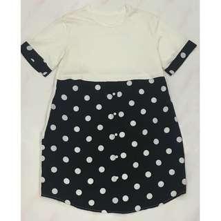 Pokadot White & Black Dress
