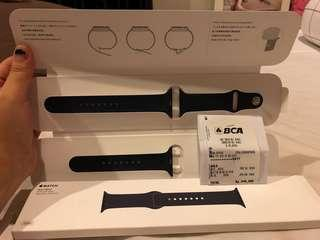 Watch sport band midnight blue stainless steel pin
