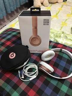 Beats Solo 3 Rosegold Wireless Headphones