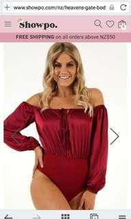 Red wine bodysuit
