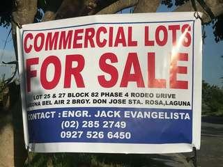 For Sale Commercial lot only in LBA Sta Rosa Laguna