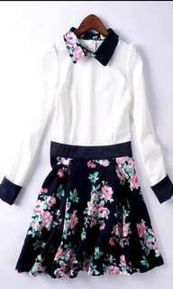 Floral 斯文裙 wore once to.party