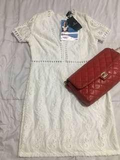 Una Rosa brand new white dress