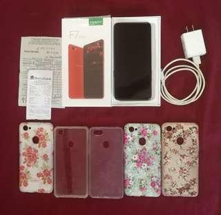 Oppo F7 Diamond black 64gb with warranty