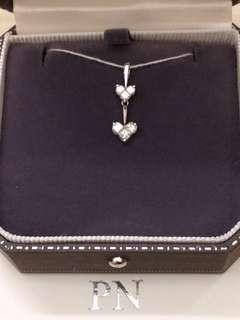 PN 天然鑽石52份心型吊咀🈹Illusion 拼石