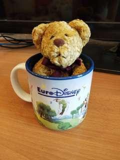 [gift idea] Disney mug / EURO / Bear in a cup / disney cup / teddy bear / mug