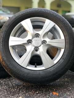 Original 14 inch sports rim saga flx tyre 70%