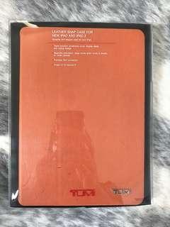 Tumi iPad leather case orange