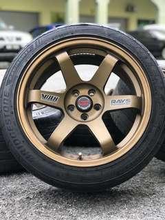 Te37sl 17 inch sports rim subaru xv tyre 70%